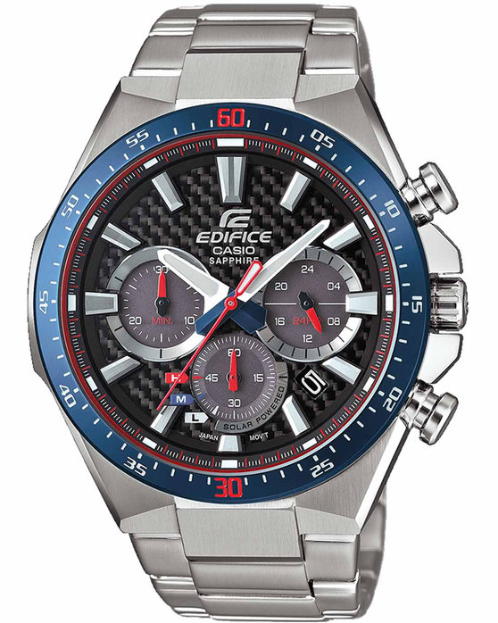 Ρολόι CASIO Edifice Toro Rosso Limited Edition Solar Chronograph Silver  Stainless Steel Bracelet - EFS-S520TR-1AER - OROLOI.gr ea09c120c92