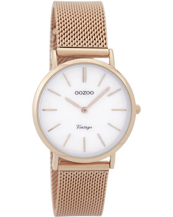 Ρολόι OOZOO Vintage Rose Gold Metallic Bracelet - C9365 - OROLOI.gr a0652c689ac