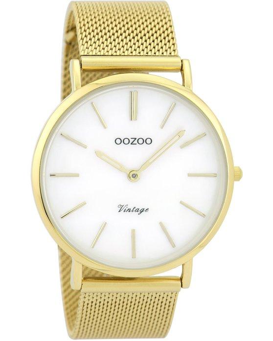 Ρολόι OOZOO Vintage Gold Metallic Bracelet - C9366 - OROLOI.gr 285941fb8b6
