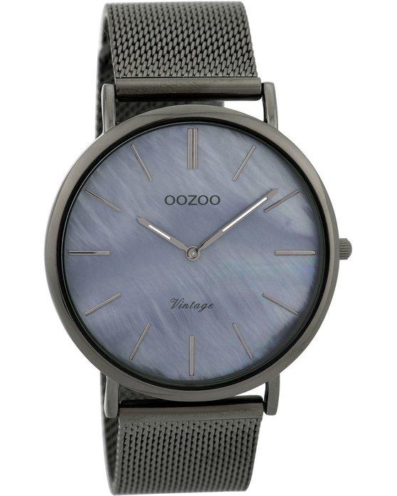 Ρολόι OOZOO Vintage Grey Metallic Bracelet - C9368 - OROLOI.gr 18db097563f