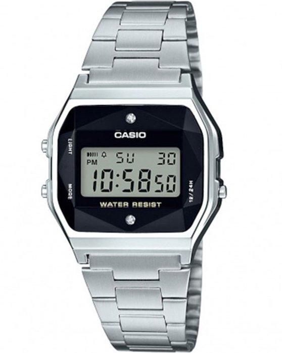 Ρολόι CASIO Collection Chronograph Silver Stainless Steel Bracelet - A-158WEAD-1EF  - OROLOI.gr 1e2dfa6ce98