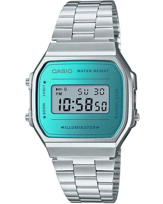 Ρολόι CASIO Collection Chronograph Silver Stainless Steel Bracelet - A-168WEM-2EF  - OROLOI.gr af63db89777