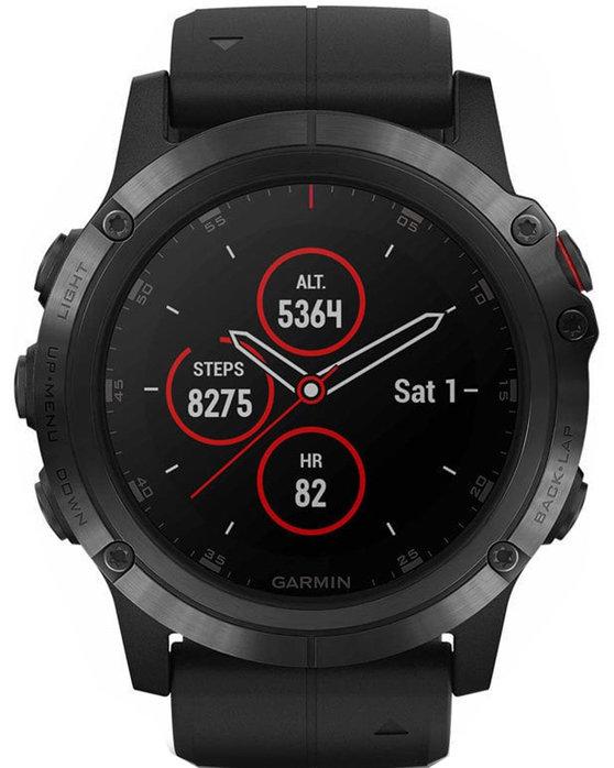 Ρολόι GARMIN Fenix 5X Plus Sapphire Black Case With Black Silicone Strap -  GA-010-01989-01 - OROLOI.gr d8fbca46777