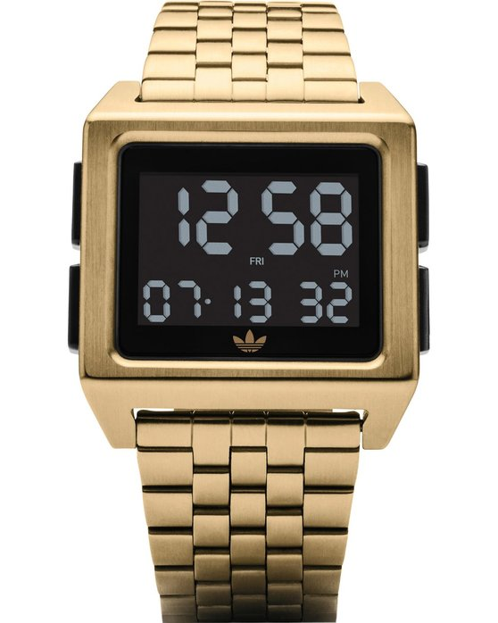 ADIDAS ORIGINALS Archive M1 Dual Time Chronograph Gold Stainless Steel  Bracelet 0962814cefc