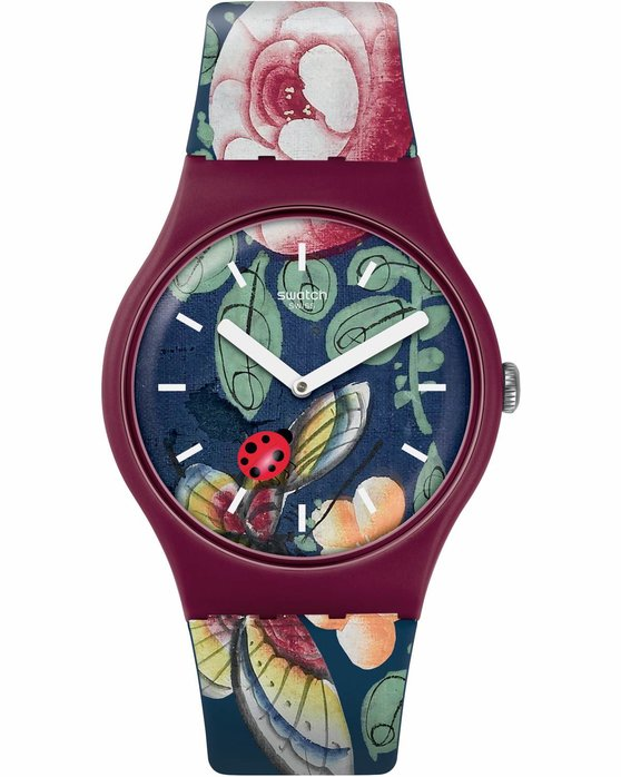 Ρολόι SWATCH Worldhood Lady Buzz Multicolor Silicone Strap - SUOR113 -  OROLOI.gr 837de691fc3