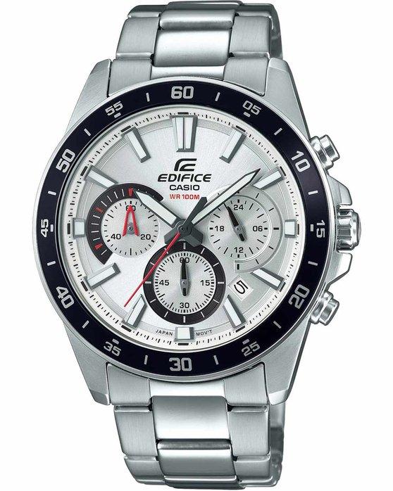 Ρολόι CASIO Edifice Chronograph Silver Stainless Steel Bracelet -  EFV-570D-7AVUEF - OROLOI.gr 19f45fc98d4
