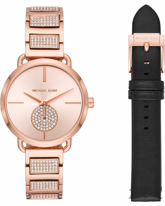 99582d147fe Ρολόι Michael KORS Portia Crystals Rose Gold Stainless Steel ...
