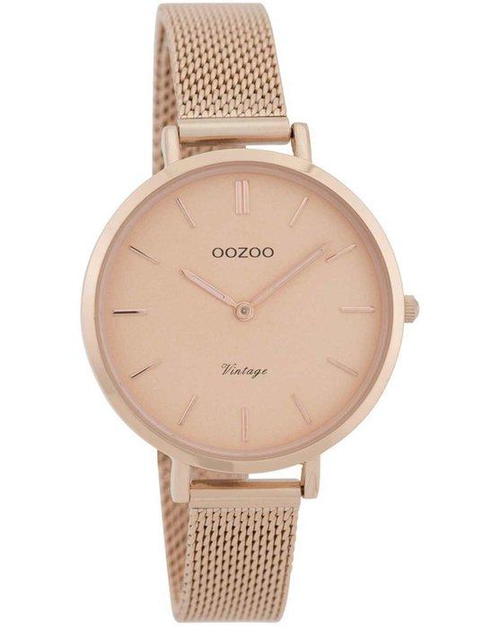 Ρολόι OOZOO Vintage Rose Gold Metallic Bracelet - C9823 - OROLOI.gr 71a5b0031b0