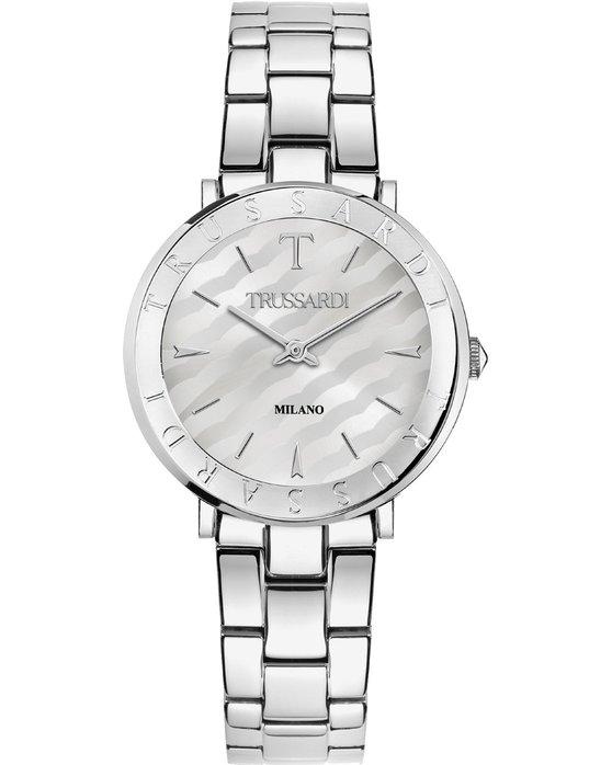 Ρολόι TRUSSARDI T-Vision Silver Stainless Steel Bracelet - R2453115506 -  OROLOI.gr 3e182e975d1