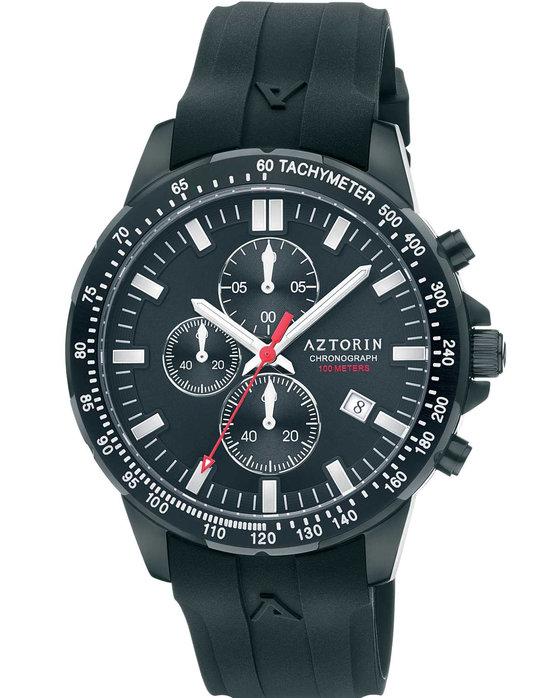 Ρολόι AZTORIN Sport Chronograph Black Rubber Strap - A058.G281 - OROLOI.gr e9ab1501bad