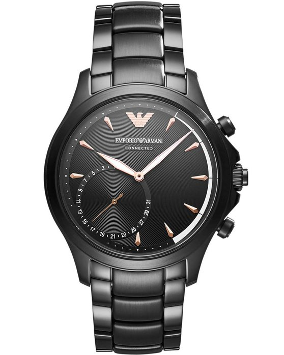 Emporio ARMANI Connected Hybrid Black Stainless Steel Bracelet