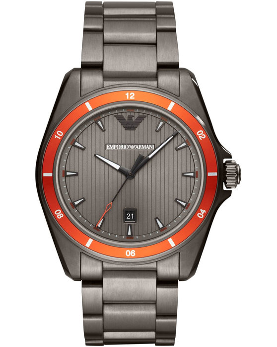 Emporio ARΜΑΝΙ Sigma Grey Stainless Steel Bracelet