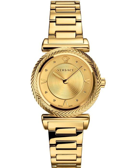 Ρολόι VERSACE V-Motif Gold Stainless Steel Bracelet - VERE00618 - OROLOI.gr 41d0ade070e