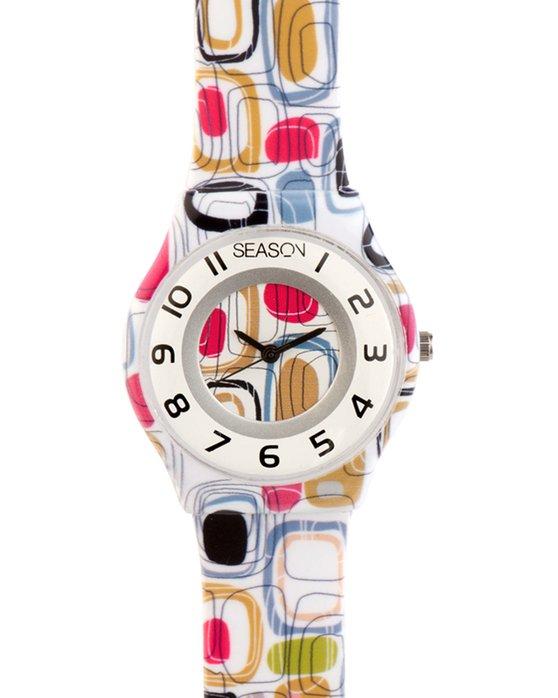 Ρολόι SEASONTIME Fresh Multicolor Plastic Strap - 111-6 - OROLOI.gr 4898c4af996