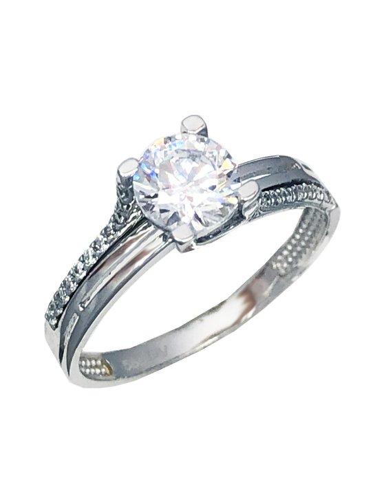 Ρολόι Ring 14ct White Gold with Zircon SAVVIDIS - 5DIV1834BR - OROLOI.gr 8d6e1a9e13e