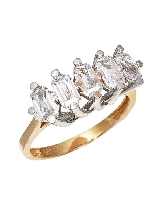 Ρολόι Δαχτυλίδι σειρέ SAVVIDIS από χρυσό και λευκόχρυσο 14Κ με ... b2eb90ecb55