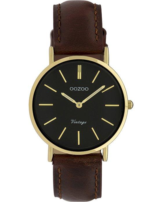Ρολόι OOZOO Vintage Brown Leather Strap - C9838 - OROLOI.gr 5f654b24ffd