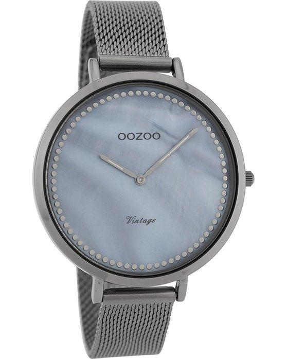 Ρολόι OOZOO Vintage Grey Metallic Bracelet - C9859 - OROLOI.gr 79cd01265d7