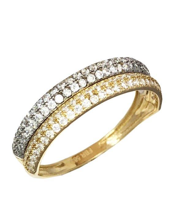 Ρολόι Ring 14ct Gold and White Gold with Zircon SAVVIDIS - 5FM2123R -  OROLOI.gr 2b60610cb42