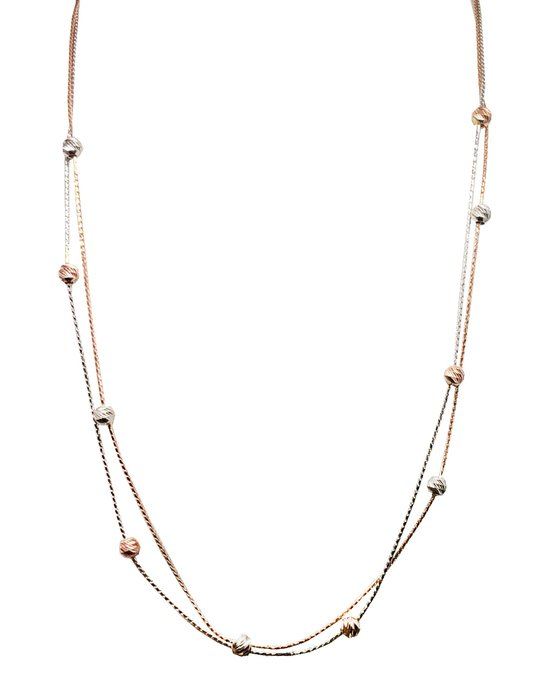 Ρολόι Necklace 14K Rose Gold and White Gold SAVVIDIS - 5CG.2680C - OROLOI.gr c3dc1fe3d28