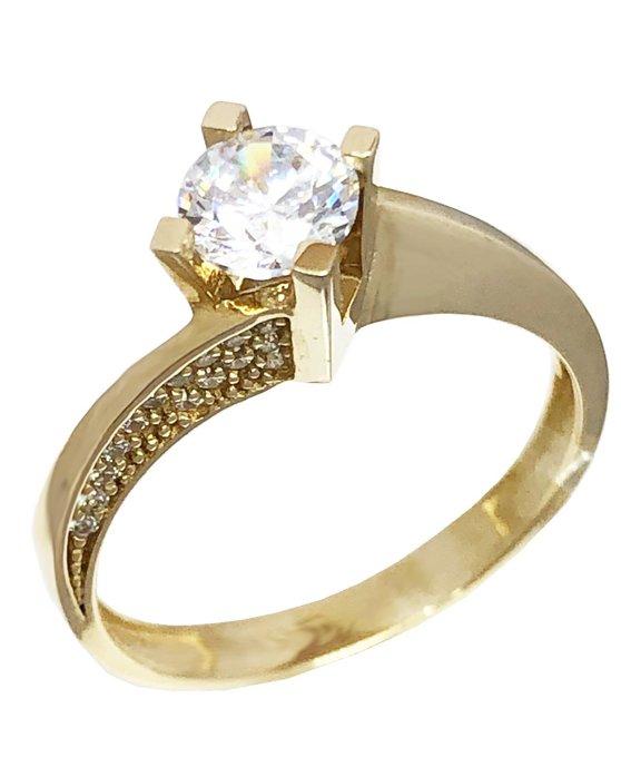 Ρολόι Ring 14ct Gold with Zircon SAVVIDIS - 5DIV32038R - OROLOI.gr a8f9af6ac98