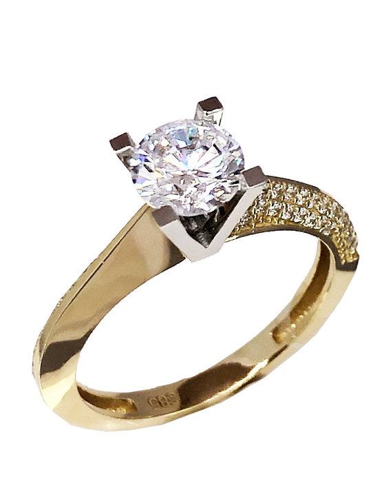 Ρολόι Ring 14ct Gold and White Gold with Zircon SAVVIDIS - 5FAV80R -  OROLOI.gr e259fdbd976