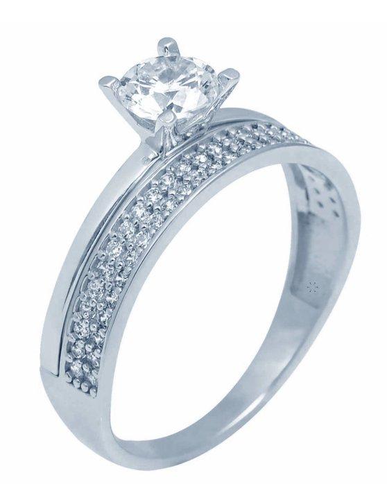 Ρολόι Ring 14ct White Gold with Zircon SAVVIDIS - 5FM16630BR - OROLOI.gr 3ce9b483a35