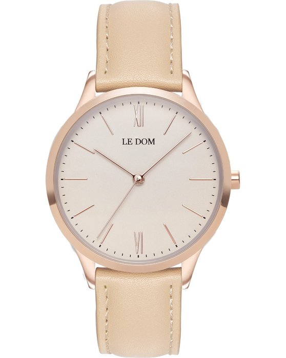 LE DOM Classic Beige Leather Strap
