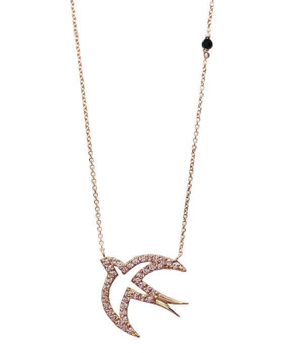 Ρολόι Necklace 14K Rose Gold with Zircon SAVVIDIS - 172K1344L3 - OROLOI.gr 73cb04f122d