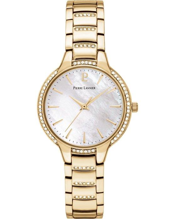 Ρολόι PIERRE LANNIER Ladies Swarovski Gold Stainless Steel Bracelet ... ad6cdbb8415