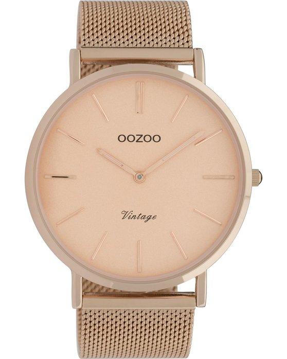 Ρολόι OOZOO Vintage Rose Gold Metallic Bracelet - C9920 - OROLOI.gr 6fd8e94f760