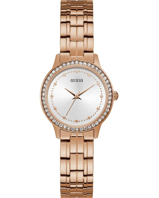 GUESS Ladies Crystals Rose Gold Stainless Steel Bracelet