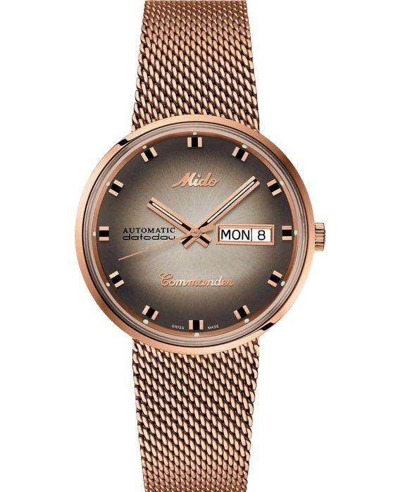 Ρολόι MIDO Commander Shade Automatic Rose Gold Stainless Steel Bracelet -  M8429.3.23.11 - OROLOI.gr 8537286261b