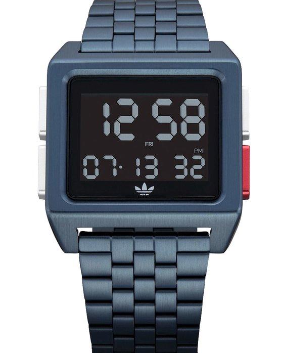 Ρολόι ADIDAS ORIGINALS Archive M1 Dual Time Chronograph Blue Stainless  Steel Bracelet - Z01-3041-00 - OROLOI.gr 0cc3e70ae2c