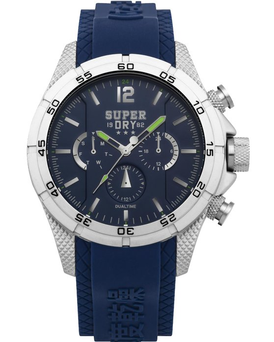 SUPERDRY Adventurer Dual Time Blue Silicone Strap