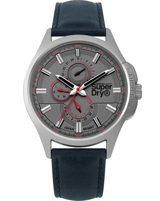 SUPERDRY Marshal Blue Leather Strap