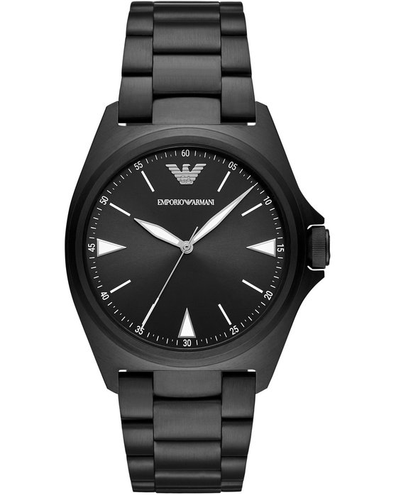 Emporio ARΜΑΝΙ Mens Black Stainless Steel Bracelet