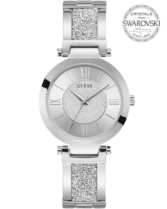 GUESS Ladies Silver Stainless Steel Bracelet