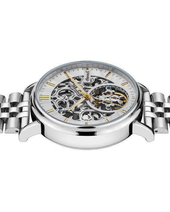 INGERSOLL Charles Automatic Silver Stainless Steel Bracelet