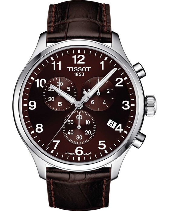 TISSOT T-Sport Chrono XL Chronograph Brown Leather Strap
