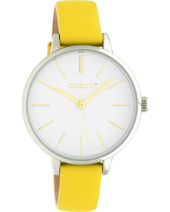 OOZOO Junior Yellow Leather Strap (34mm)