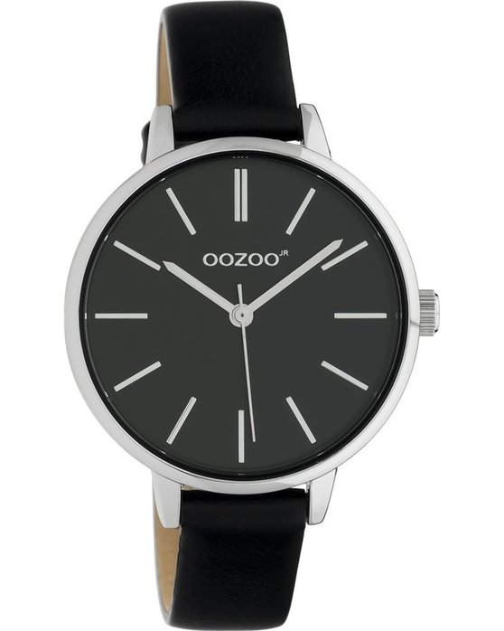 OOZOO Junior Black Leather Strap (34mm)