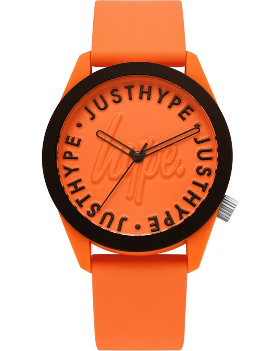 HYPE Unisex Orange Rubber Strap
