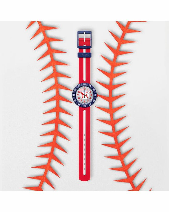 FLIK FLAK City of Life Home Run Two Tone Plastic Strap