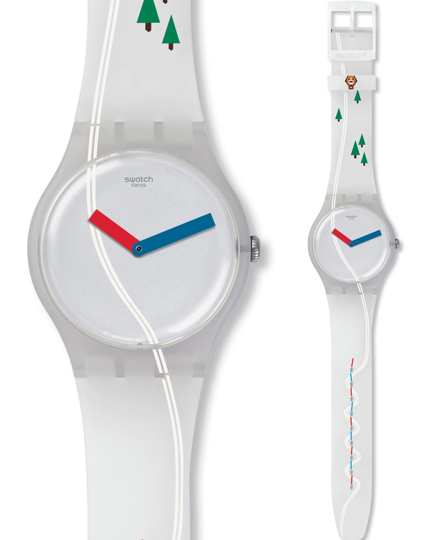 Ρολόι SWATCH T SCHUSS White Silicone Strap - SUOW137 - OROLOI.gr 7c9adacc7bd