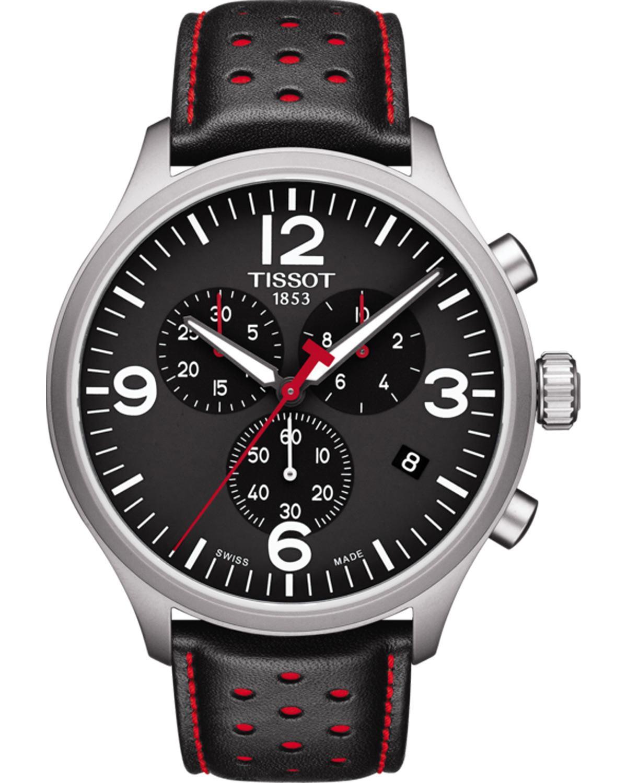Ρολόι TISSOT Chrono XL Black Leather Strap - T1166171605702 - OROLOI.gr 8c906d066da