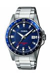 CASIO Collection Stainless Steel Bracelet Blue Dial