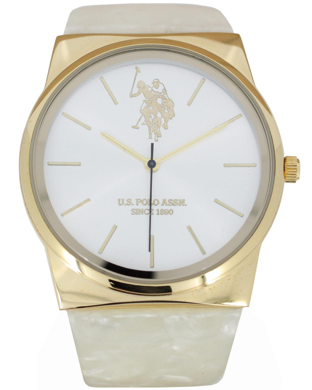Ρολόι U.S. POLO Agatha White Plastic Strap - USP5548YG - OROLOI.gr d8996f35af6