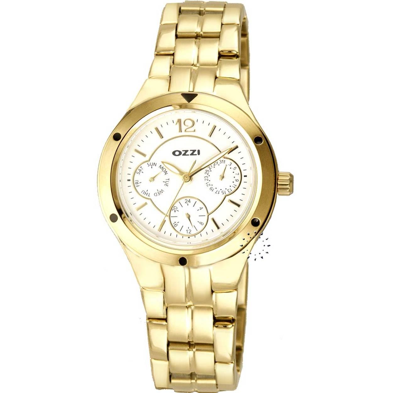 Ρολόι OZZI Calendar Gold Stainless Steel Bracelet - W02560 - OROLOI.gr 3a8fefbc035