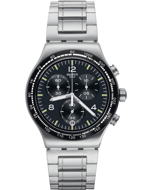 202c5c98913 Ρολόι SWATCH Irony Night Flight Chronograph Silver Metallic Bracelet ...